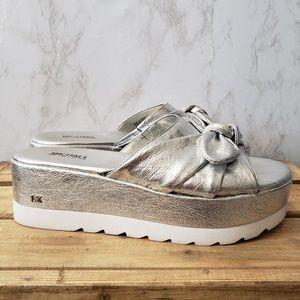 MICHAEL Michael Kors Shoes - Michael Kors Pippa Metallic Platform Sandal